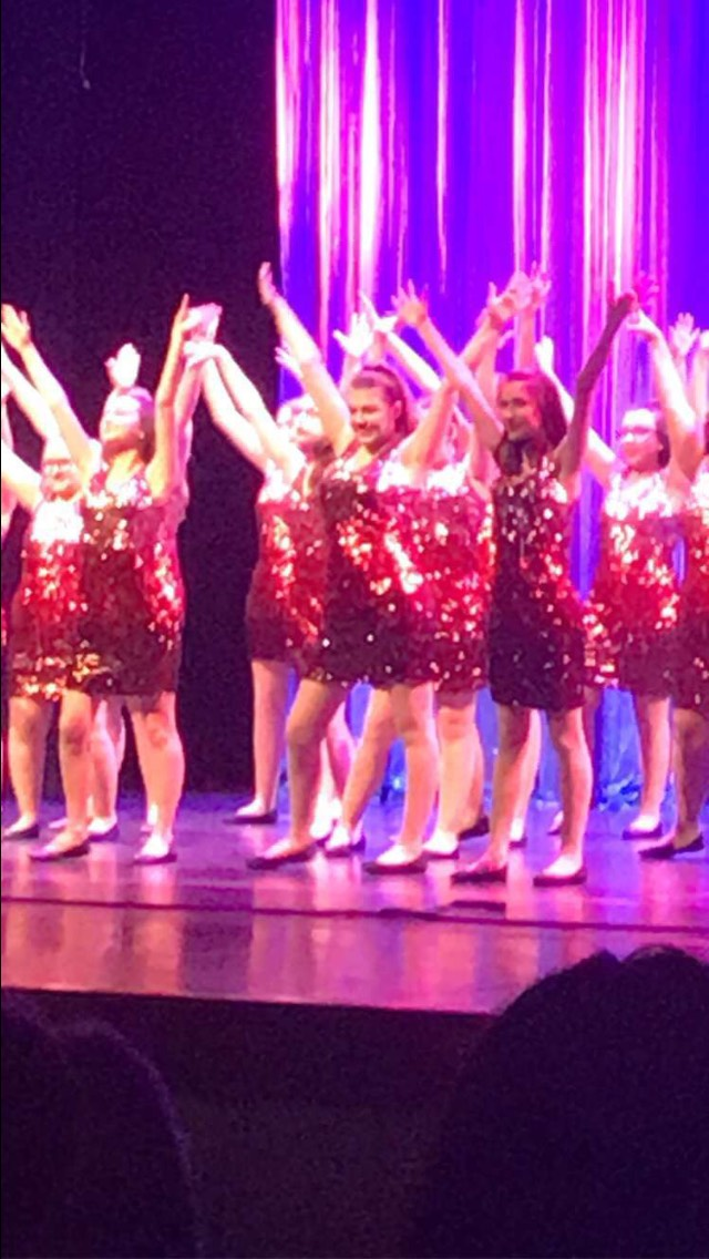 The students perform during Sister Act.