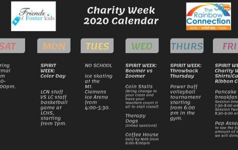 This years Charity Week calendar!