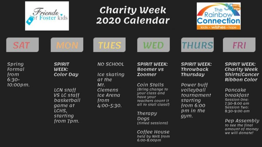 This years Charity Week calendar!