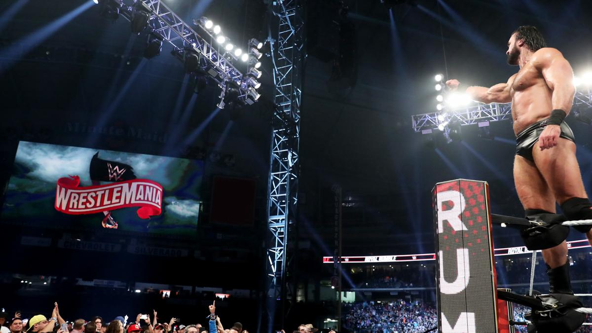 Drew McIntyre wins the men's Royal Rumble. Photo Credit: WWE