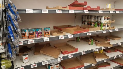 Panic-buying leads to empty shelves, which may lead to future problems.