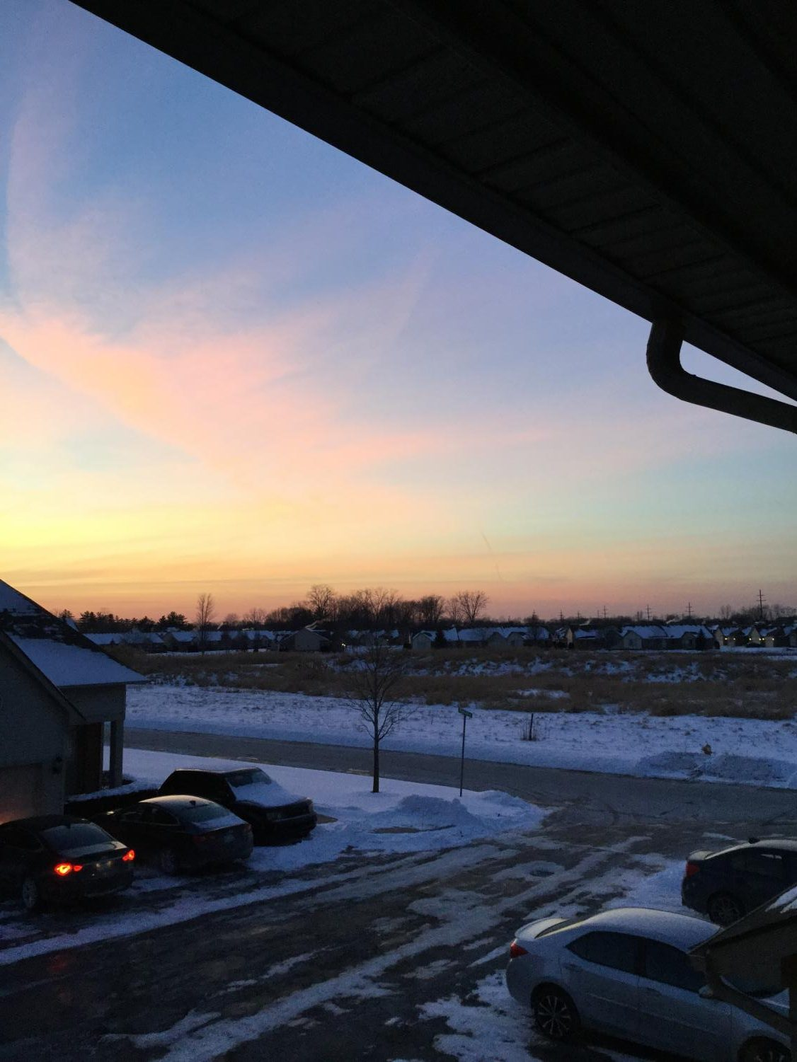 A late winter sunset. Photo credit: Dominic Comfort