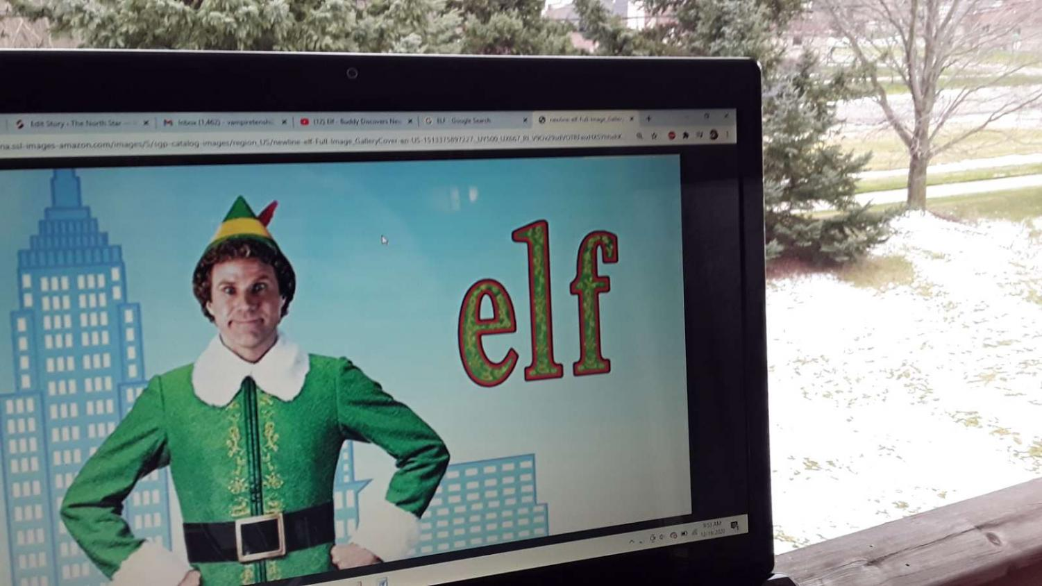 Will Ferral, pictured as Buddy The Elf. Photo Credit: Dominic Comfort