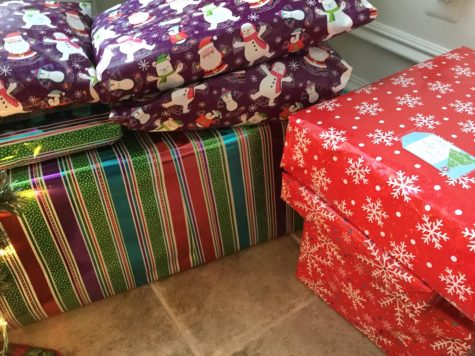 Photo Credits: Chris Peraino White Elephant gifts all wrapped.
