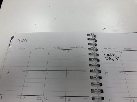 June 3rd marked as the last day in calendars.