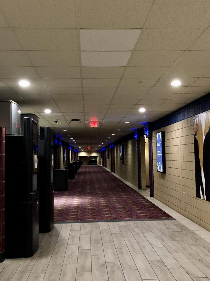 Empty hallways at the theater