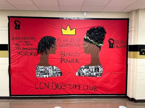 "The Diversity Club displayed a mural that reads ""Black is Power"""