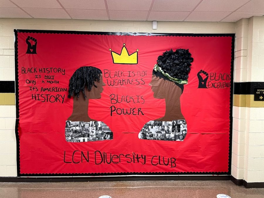 The Diversity Club displayed a mural that reads