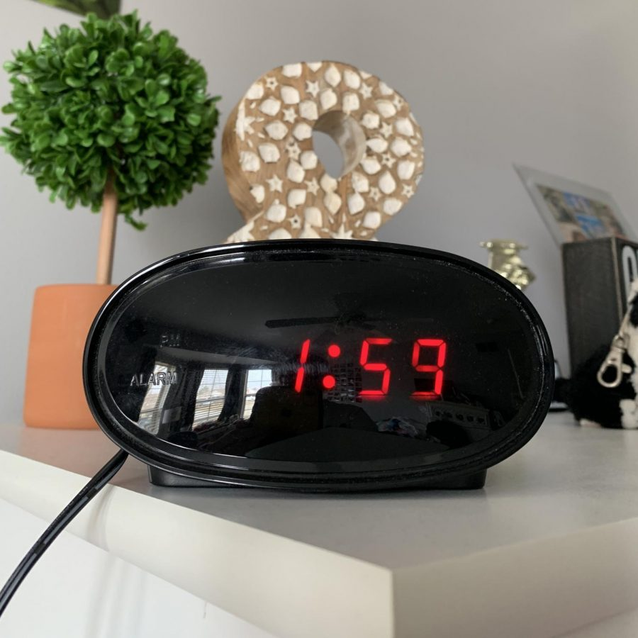 At 1:59 AM, the clock will jump ahead an hour to 3:00 AM.