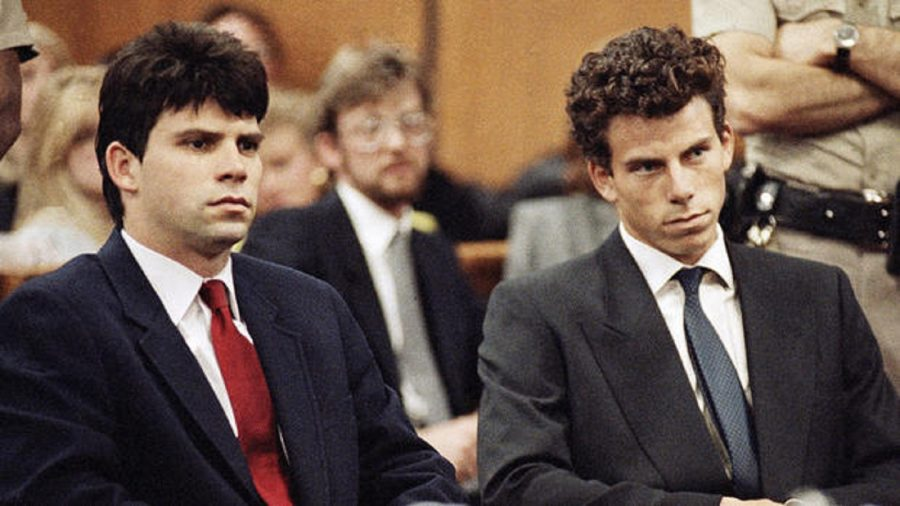 The Menendez brothers at their trial in 1993.